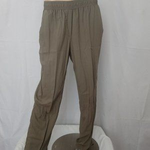 CHICO'S Olive Green Elastic Waist Pants Sz 1.5